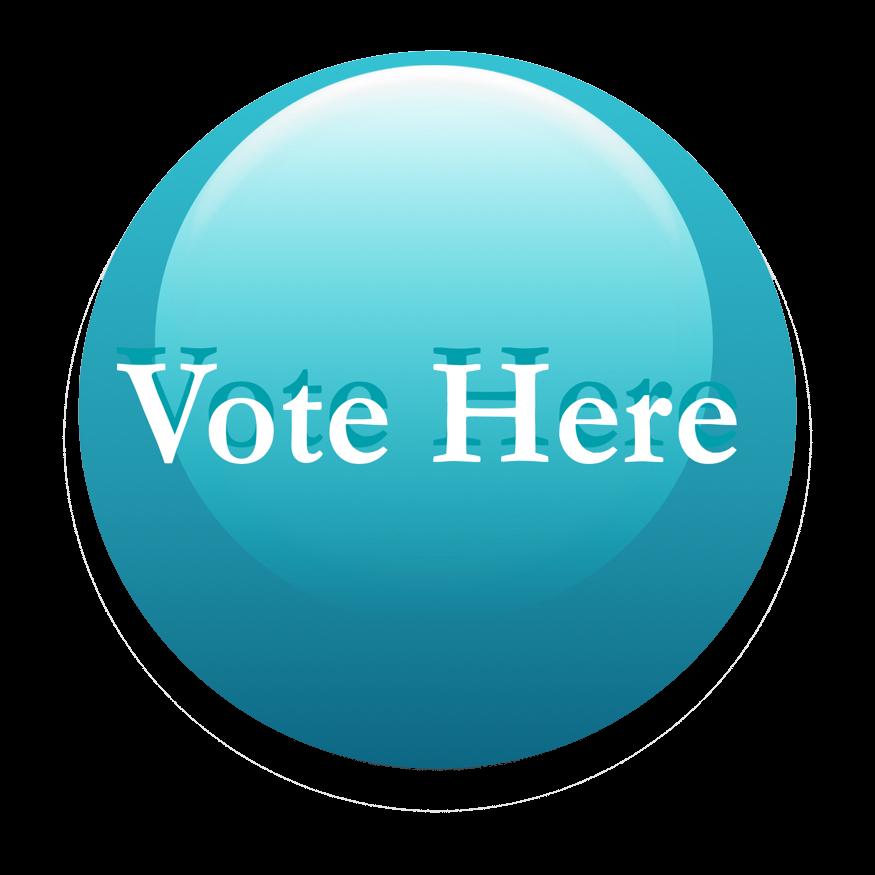 TRANSPARENT BLUE BUTTON VOTE HERE